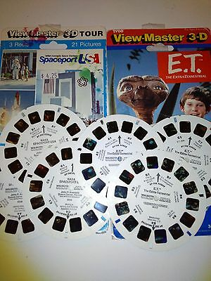 View Master 3D, 3 ET and 3 NASA Reels
