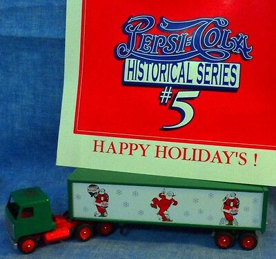 Winross Truck Pepsi Cola Historical Series #5 HAPPY HOLIDAYS Christmas Santas C5