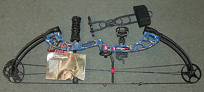 PSE Stinger X Compound Bow RTS Package, 40-70# RH Blue Free Adjustments!