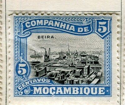 PORTUGUESE MOZAMBIQUE;  1918 early pictorial issue Mint hinged 5c. value