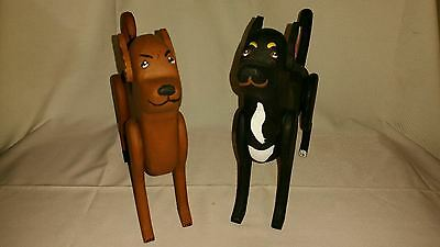 Pair of Life Sized Chihuahua Dog Sculpture, Home Decor, HandCrafted Wooden