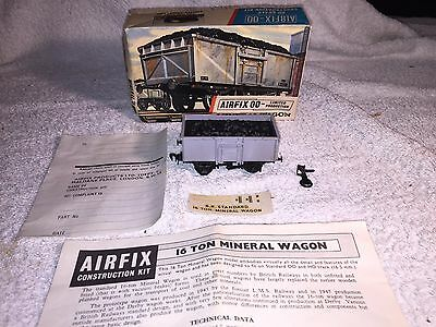 Airfix No R.3 Mineral Wagon BOXED series 1 built very good, early red stripe box