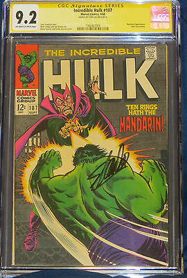 Incredible Hulk 107 CGC 9.2 Signed by Stan lee