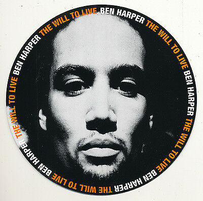 Ben Harper The Will To Live RARE promo sticker '97