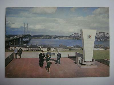 Postcard Firth Of Forth Two Bridges Queensferry Scotland Unused See 2 Pic's