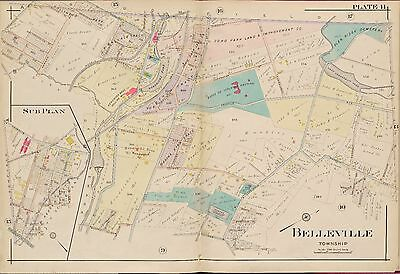 1906 Belleville, New Jersey, Essex County Isolated Hospital, Copy Plat Atlas Map