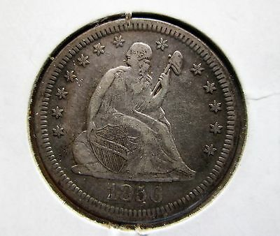 1856 Seated Liberty US Quarter Dollar