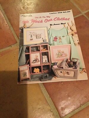 Leisure Arts Cross Stitch Chart 'We wash our clothes'