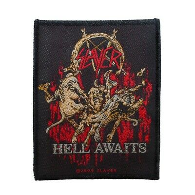 """Slayer: Hell Awaits"" Thrash Metal Band Album Merchandise Sew On Applique Patch"
