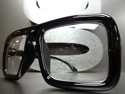 NEW CLASSIC OVERSIZE RETRO HOT VINTAGE Clear Lens EYE GLASSES Black Thick Frame