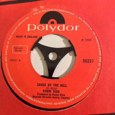 ROBIN GIBB Saved By The Bell Ex+ Polydor UK 1969 7""