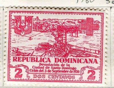 DOMINICA;  1930 early Red Cross issue fine Mint hinged 2c. value