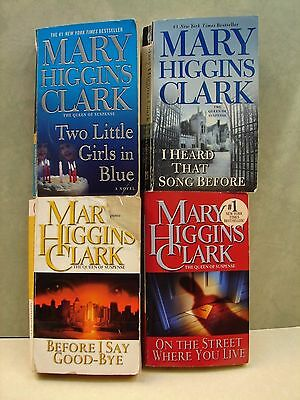Lot Of 4 Paperback books,  By Mary Higgins Clark,  see list