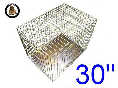 """Ellie-Bo 30"""" Medium Dog Puppy Pet Cage Folding Carrier Crate In Gold"""