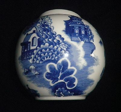 Vintage Royal Cauldon Willow Pattern Ginger Jar Made For R Twining & Co Ltd VGC
