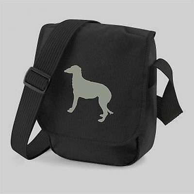 Deerhound Dog Silhouette Reporter Bag Scottish Deerhound Shoulder Bags Xmas Gift