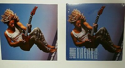 """""""SAMMY HAGAR"""" 1987 SEALED  LP w RARE PROMOTIONAL 12x12 flat  *with Give to live"""