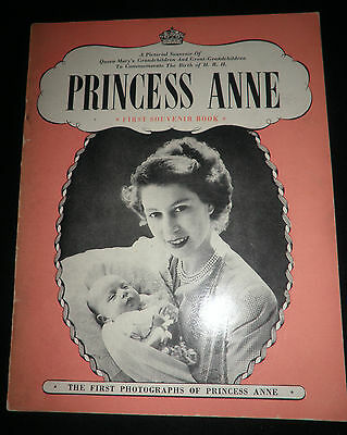 Princess Anne First Souvenir Book Pitkin Pictorials Booklet Vintage 1950's Rare