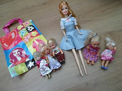 Barbie Shelly Doll With Teacher & Children Dolls Pupils Students & New Bag