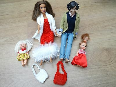 Barbie & Ken Doll Family Bundle + Chelsea Doll X2 Wearing Party Clothes