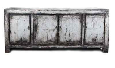 Off-White Lacqured Distressed TV Stand – c.1930