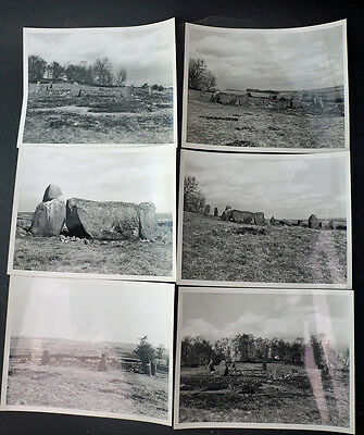 Six B&W Photographs Loanhead Aberdeenshire Stone Circle  1958 Ex M. of Works