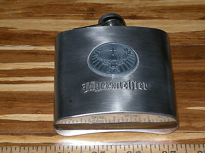 Jagermeister Stainless Steel Flask & Medallion Coin - Unused