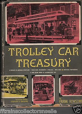 TROLLEY CAR TREASURY(H/C BOOK) by FRANK ROWESOME, JR - 1ST EDITION 1956