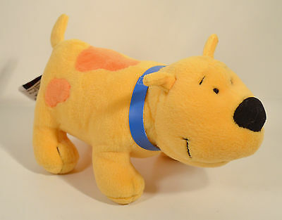 "2001 T-Bone 8"" Yellow Plush Stuffed Animal Clifford The Big Red Dog Side Kicks"