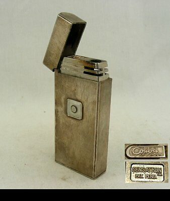 Vintage Silver-plated Metal Lighter Sensatron by Colibri of London