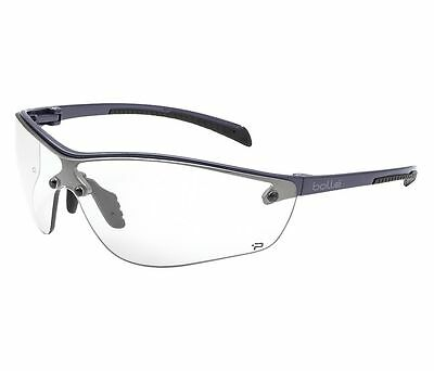 Pair clear lens Bolle # 40237 Silium Anti Fog Scratch Resistant Safety Glasses