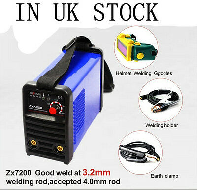 200A IGBT DC MMA ARC Welding Machine & welder helmet & accessories in UK Stock