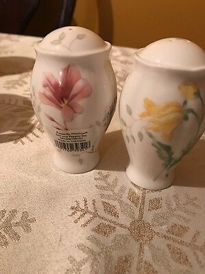 Lenox Butterfly Meadow Salt and Pepper Shaker Set S&P Shakers