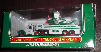 2012 Mini Hess Truck And Airplane - New In Box - Very Low Price!!!