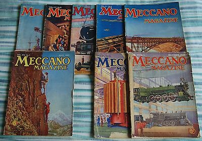 Meccano Magazines 1932 - 8 Issues - Collectable / Classic Rail Toys
