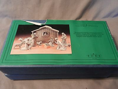 13 Piece Pewter Nativity Scene with Gold Accents & Mirror Base by FORT Pewter (M