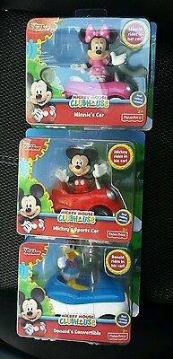 Fisher-Price Disney Mickey Mouse Clubhouse Set of 3 Racer cars Minnie Donald