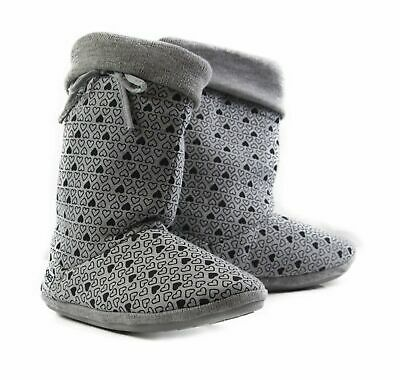 Womens HEARTS HOODIES BOOTS Grey Black Slippers Ugg Boot Shoes - Size S M L XL