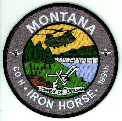 Vintage 189th Co. H Iron Horse Montana U.S. Air National Guard Patch USAF