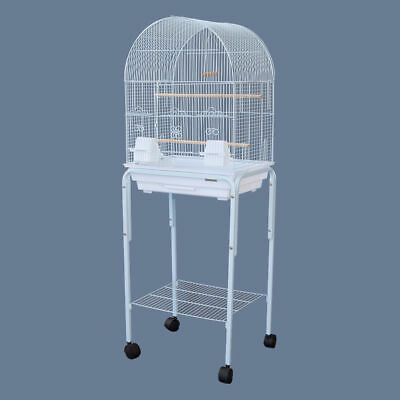 Dome Top Bird Cage with Stand for Canary Cockatiel Parakeet Lovebird Finch