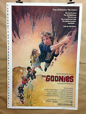 The Goonies printers Proof USA ONE SHEET Vintage Movie Poster  1985