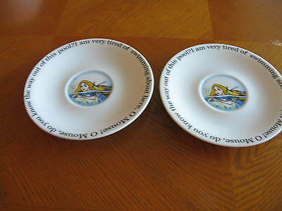2 Paul Cardew Designs Alice in Wonderland Cafe Saucers Only 2010