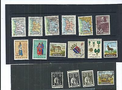 Angola.. Selection Of 16. Various Condition. As Per Scan