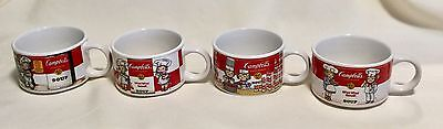 Vintage Set of 4 Campbell's Kid Soup Mug Cup Bowl Westwood 1993 COLLECTIBLE