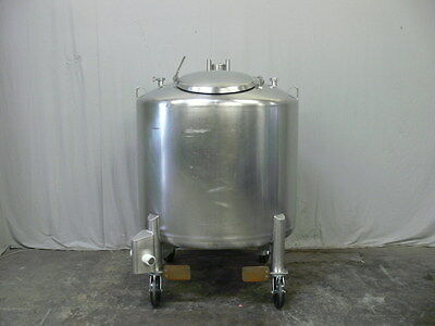DCI 250 Gallon Stainless Steel Process Tank w/ Sloped Bottom and Valve