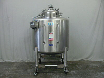 DCI 250 Gallon Stainless Steel Pressurized Tank w/ Pneumatic Agitator & MTL688