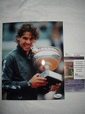 Spain RAFAEL NADAL SIGNED AUTOGRAPHED 8x10 Photo Exact PROOF JSA K03506