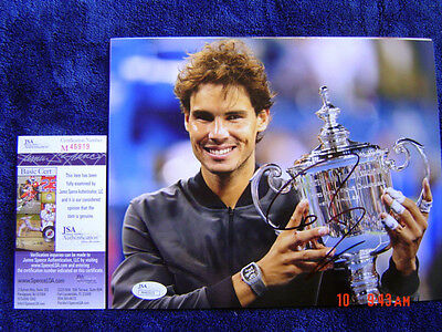 Spain RAFAEL NADAL SIGNED AUTOGRAPHED 8x10 Photo Exact PROOF JSA M46919
