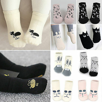 Toddler Newborn Baby Girl Boy 1-4T Kids Cartoon Anti-slip Warm Cute Socks Gifts