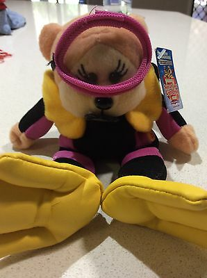 Beanie Kid Coral the Diver Bear with tag